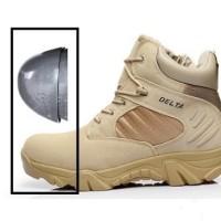 Sepatu Delta Safety Tactical Army 6 Warna Sand Hitam - DELTA 86