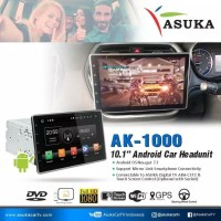 Asuka 10 Inch/Asuka AK-1000 New Head Unit Android Double Din 10 Inch
