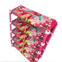 Rak Sepatu Sendal Plastik Naiba 5 Susun ( strawberry)