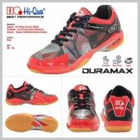 duramax red/sepatu badminton hiqua duramax red