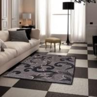 Karpet Handtuft Deandra Dark Bahan Wol Asli Mewah 85x110 cm
