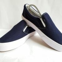 Sepatu Vans Slip On Navy Premium Quality - Navy, 36