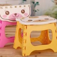 Kursi Lipat Mini Plastik Anak Serbaguna Foldable Chair Portable