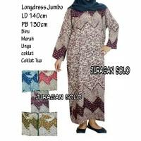 Daster Longdress Muslim Jumbo Big size LD 140cm Adem Tidak Luntur