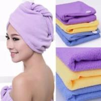 Handuk kepala polos, Handuk keramas/Creambat, Hair Wrap Magic
