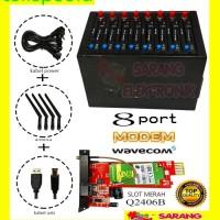 Spesial MODEM POOL 8 PORT USB MODUL WAVECOM Q2406B TOMBOL BIRU
