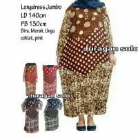 Daster Longdress Muslim Super Jumbo Big size LD 140cm Adem