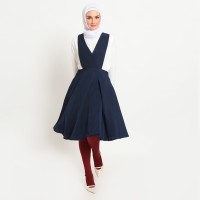 Hijab Ellysha MOMO OVERALL MINIMI NAVY WITH LEGGING WUDHU