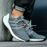 Sepatu Adidas Ultra Boost 4.0 Grey Four / Sneakers Premium