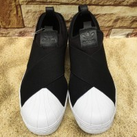 Sepatu Wanita - Adidas Superstar Slip On Black (Original)