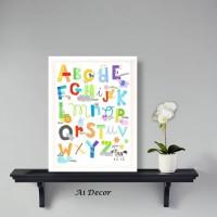 Dekorasi Poster Pigura Anak Untuk Belajar Membaca - Pajangan Pigura