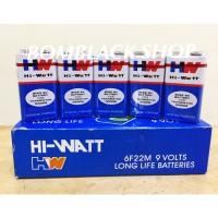 Baterai 9v HW HI-Watt Battery 9 Volt Batu Batere Batre Kotak MURAH