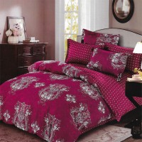 Sleep Buddy Set Sprei dan Bed Cover Red Carve Cotton Sateen - King Size