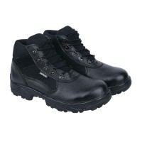 Sepatu Boots Safety Pria Kulit Asli Kualitas Pilihan