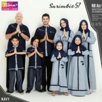 Baju Muslim Sarimbit Keluarga Nibras Family 57 Navy Setelan Couple