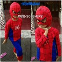 Baju Kaos Setelan Kostum Anak Karakter Superhero SPIDERMAN 5-8 Tahun