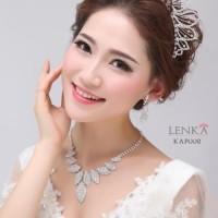 Aksesoris Perhiasan Kalung Pesta Pengantin Wedding Modern Lenka KAP002