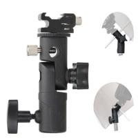 Flash Shoe Umbrella Holder Adapter Hotshoe Swivel Stand Lighting Type
