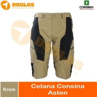 Celana Pendek CONSINA Asten Short Pant Light Quick Dry Krem