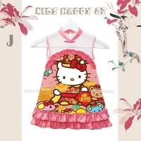 dress imlek Kh 87 J hello kitty - kids