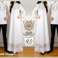 [Elegant couple RO] baju couple katun bordir putih
