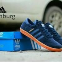 Promo Sepatu Adidas Hamburg Suede Navy Blue Grade Original