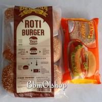 Paket roti buns Bernardi dan Champ burger Ayam