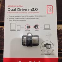 OTG SanDisk m3.0 Ultra Dual USB Drive 16 GB USB 3.0 GARANSI