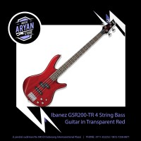 Ibanez GSR200-TR 4 String Bass Guitar in Transparent Red