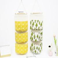 Pouch Gantung / Hanging Bag 3 Sekat / Storage Bag Gantung 3 Sekat