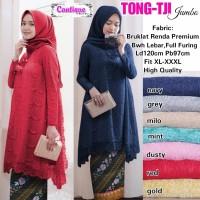 Tunik Brokat LD 120 cm Blouse Big Size Atasan Kebaya Hijab Muslim