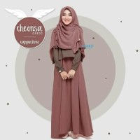 Baju Gamis Syar'i polos Remaja Dress Muslim Wanita New cheonsa set