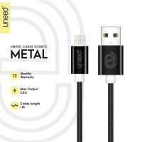 KABEL CHARGER USB TIPE C UNEED METAL QUICK CHARGE SAMSUNG S8 NOTE8 HTC