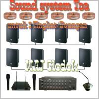 Paket sound system Toa untuk dua Tingkat/Ruangan