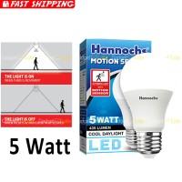 Hannochs Motion Sensor Bohlam LED 5 watt Lampu Sensor Gerak