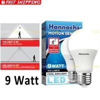 Hannochs Motion Sensor Bohlam LED 9 watt Lampu Sensor Gerak