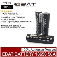 Authentic EBAT 18650 2100mAh 50A Battery | batre baterai vape vapor