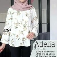 tunik blouse atasan baju muslim wanita kemeja putih blus xl jumbo