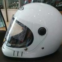 Helm Zeus Z816E / ZS816E Retro cakil White