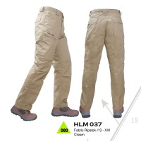 CELANA PANJANG GUNUNG HIKING ADVENTURE WARNA CREAM - TREKKING HLM 037