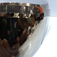 flat visor iridium gold pnp kyt r10 kyt rc7 kyt k2rider ( warna gold )