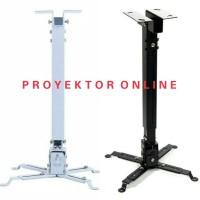 Bracket Projector Ceiling Mount Universal - Putih