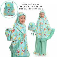 Mukena Anak Katun Hello Kitty Tsum Tosca ( Tas Ransel )