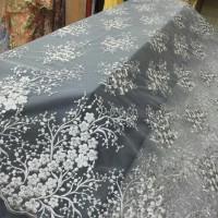 Kain tile brokat korea motif sakura. bahan kebaya, dress. hijab