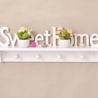 Rak dinding vintage SWEETHOME +4bh hook gantungan cantolan interior on