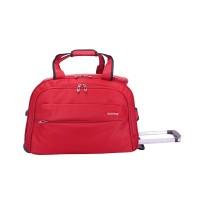 Navy Club Travel Bag Trolley - Tas Pria Wanita Tas Travel Trolley BJEC - Merah