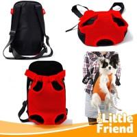 Pet Carrier Tas Ransel/Gendongan Depan Belakang Anjing Kucing Jaring2