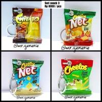 miniatur Snack /Gantungan kunci unik /cheetos