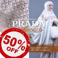 Hot Promo Mukena Silk Prada Morocco Hijab   Mukena Prada Sutera