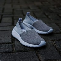 SEPATU SNEAKERS ADIDAS WOMEN CF SLIP ON GREY GREY ORIGINAL BNWB